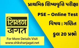 PSE Exam Online Test 20 - Maths
