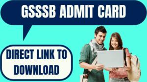 GSSSB Call Letter 2021