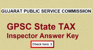 GPSC STI Paper And Answer Key 2021